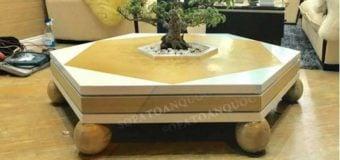 Mẫu bàn trà sofa phòng khách phong cách hiện đại tinh tế sang trọng
