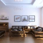 Lựa chọn ghế sofa gỗ óc chó cho không gian phòng khách