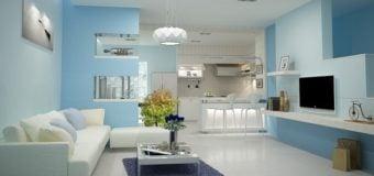 Không gian cực sang trọng khi ghế sofa hợp với màu sơn tường