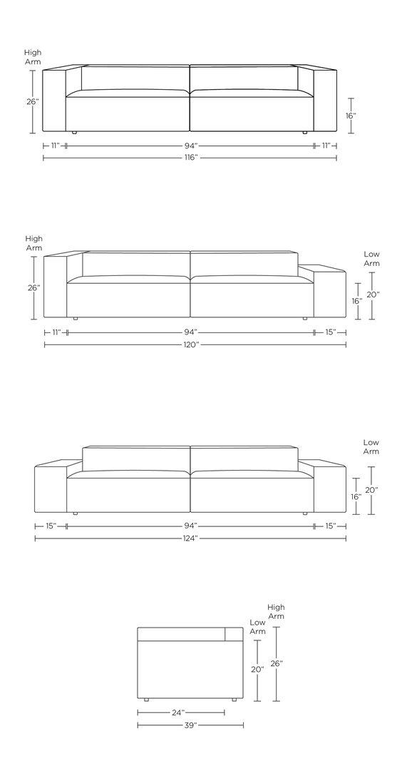 Kích thước sofa văng tham khảo tiêu chuẩn hiện nay.