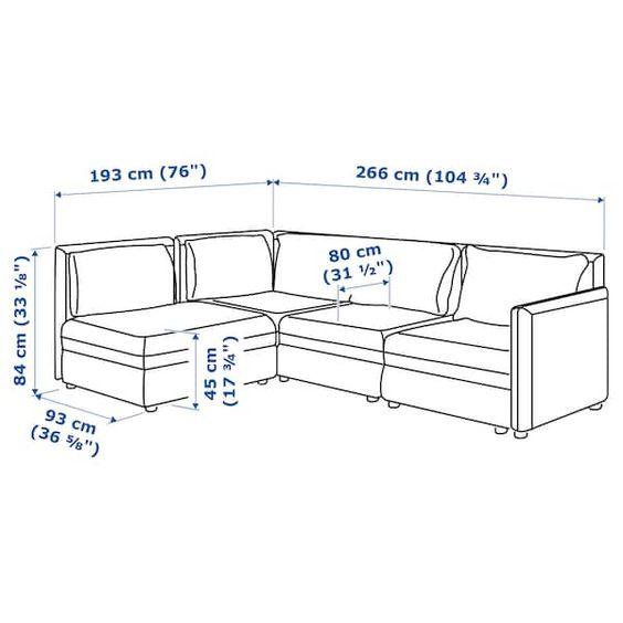 Kích thước sofa góc tiêu chuẩn dành cho khách hàng tham khảo.