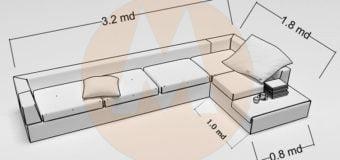 Kích thước tiêu chuẩn của bộ ghế sofa phòng khách là bao nhiêu?