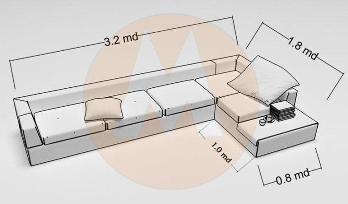 Đừng quên kích thước của ghế sofa khi lựa chọn sofa cho phòng khách gia đình