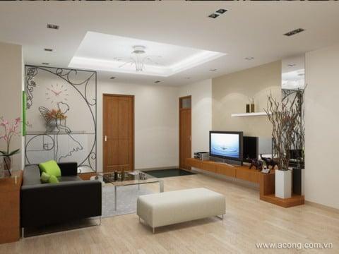 cách làm tăng diện tích phòng khách chung cư