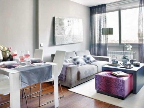 bộ bàn ghế sofa góc nỉ cho phòng khách