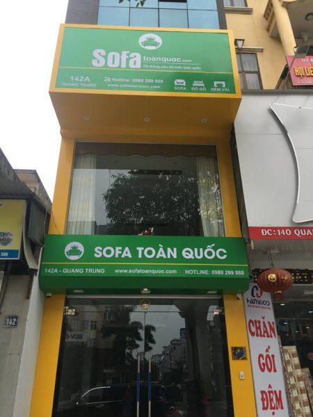 Showroom Sofa Toàn Quốc tại 142A Quang Trung - Hà Đông - Hà Nội.