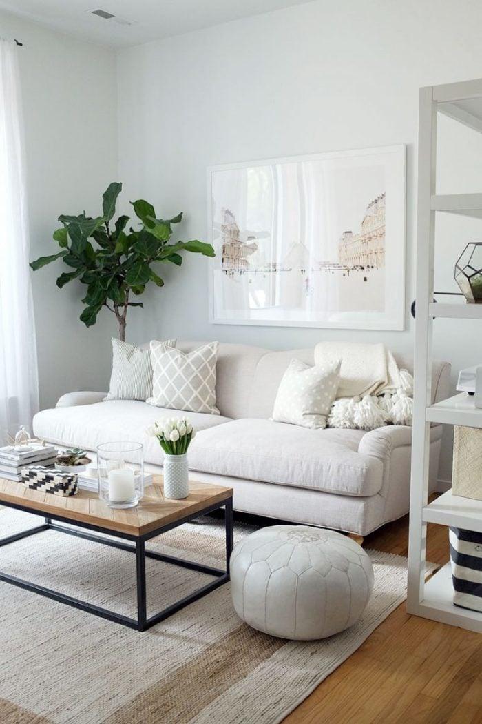 Sofa phòng khách chất liệu vải nỉ