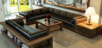 Sofa da phòng khách thổi hồn sức sống cho cả căn phòng