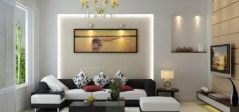 Mẫu bài trí bàn ghế sofa phòng khách đẹp cho chung cư