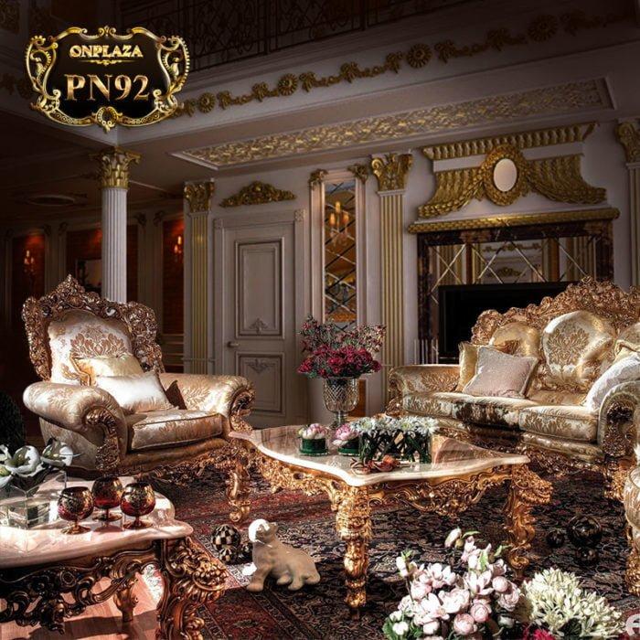 sofa cao cấp kiểu dáng tân cổ điển