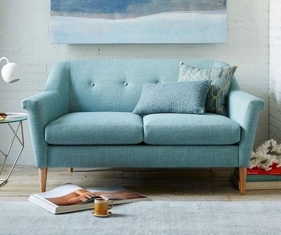 bộ bàn ghế sofa vải nỉ kích thước nhỏ