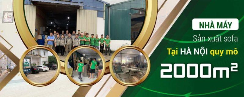 Xưởng sản xuất ghế sofa rộng 2000m2 của Sofa Toàn Quốc