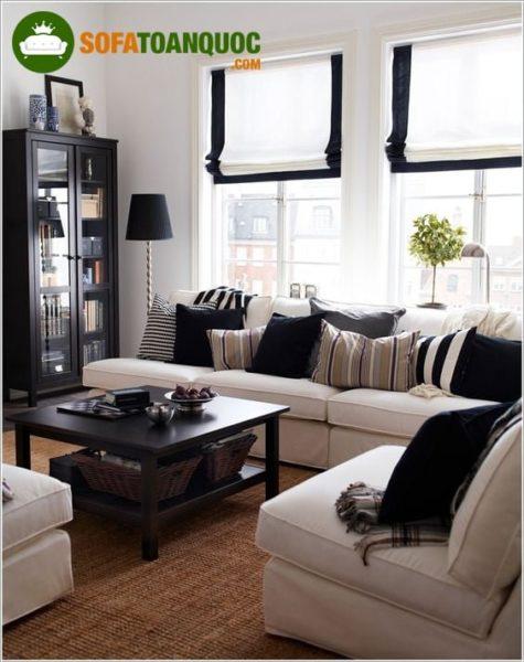 bàn ghế sofa góc bằng nỉ giá rẻ