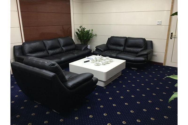 Ghế sofa da màu đen 1-2-3 mã SFD149