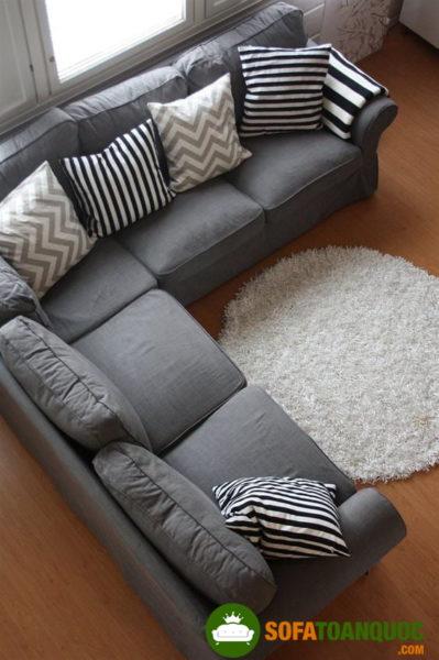 bộ bàn ghế sofa góc xám tro nhiều người yêu thích