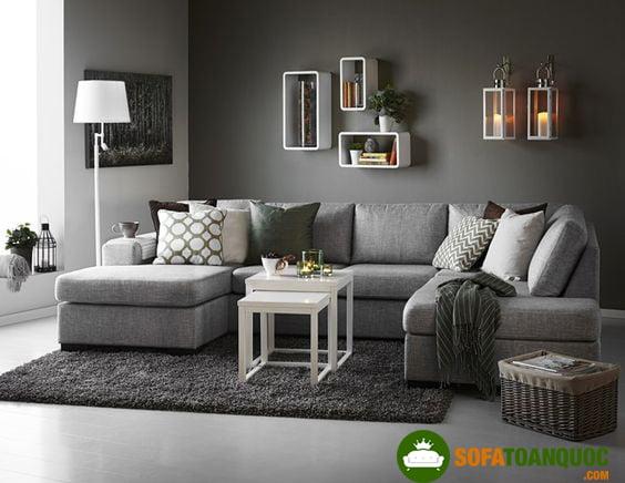 địa chỉ bán ghế sofa góc xám tro bằng vải tại Hà Nội