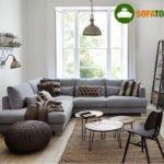 Bộ ghế sofa góc màu xám cực sang trọng, lịch lãm cho phòng khách