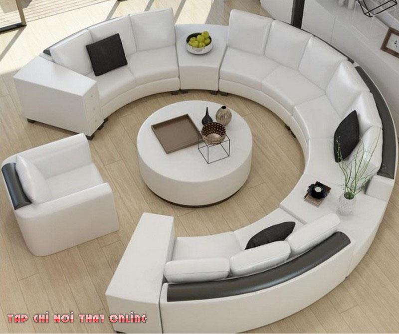 ghế sofa chữ C cho phòng khách rộng