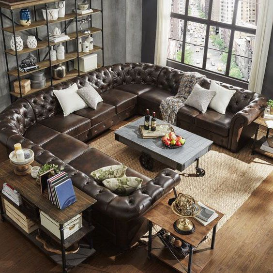 sofa góc chữ U tân cổ điển
