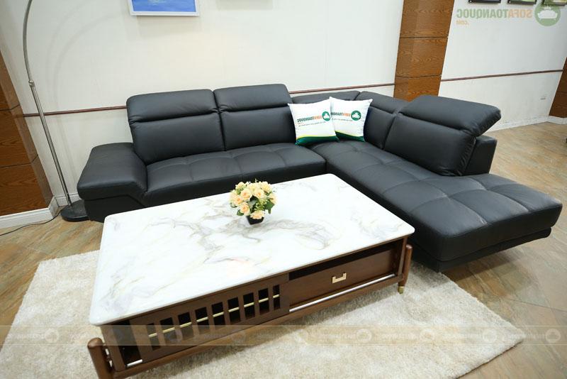 ghế sofa da màu đen nhập malaysia