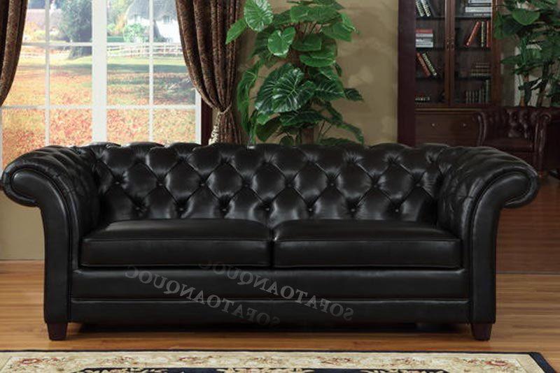 Ghế sofa da màu đen mã SFVA64