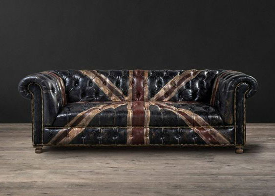 ghế sofa tân cổ điển bọc da công nghiệp
