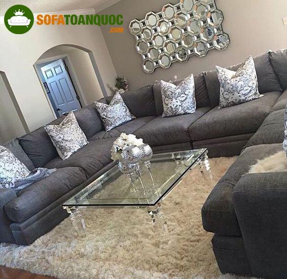 Bộ sofa góc cỡ lớn kiểu dáng chữ L quan trọng nhất là sự sang trọng
