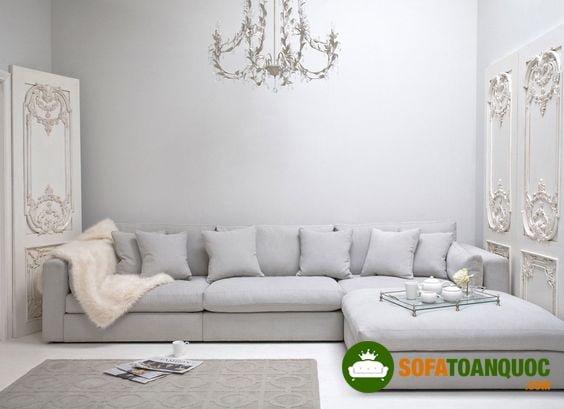 Bàn ghế sofa góc rộng cho phòng khách