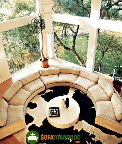 bàn ghế sofa góc lớn cho không gian phòng khách