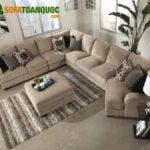 Mẫu ghế sofa góc lớn cho phòng khách rộng phong cách hiện đại