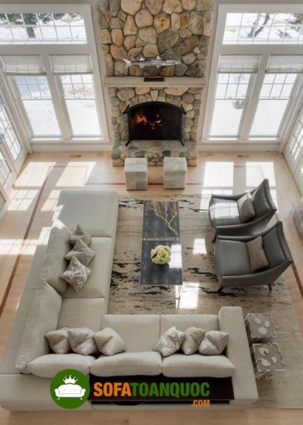 bộ bàn ghế sofa góc lớn cho phòng khách