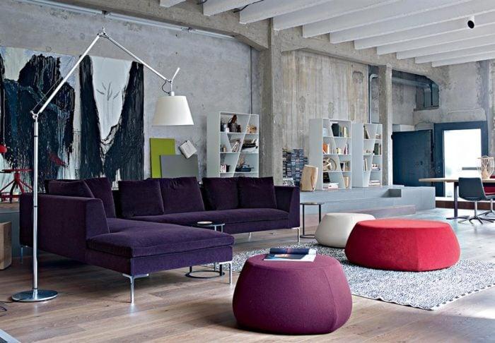 mẫu ghế sofa màu tím đẹp