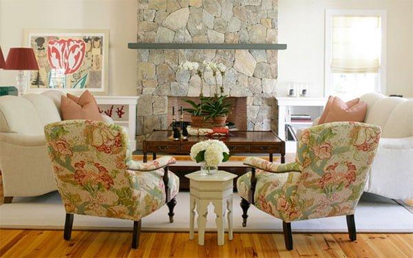 chọn ghế sofa nỉ hoa cho phòng khách
