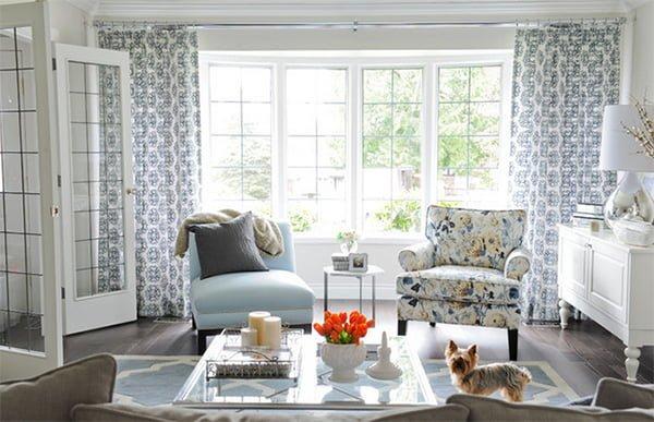 chọn sofa vải hoa cho phòng khách nhỏ