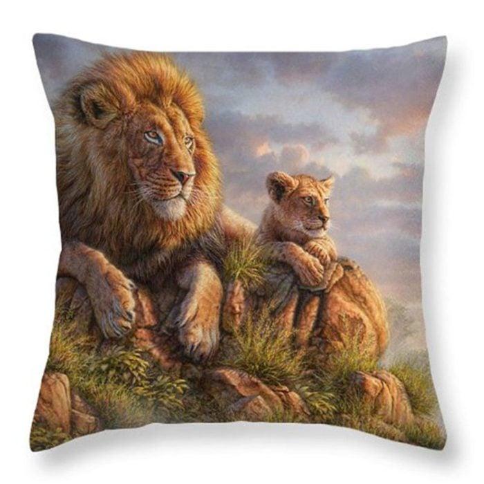 gối trang trí dễ thương về động vật hoang dã