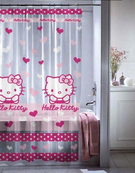 rèm cửa kitty cho phòng bé gái