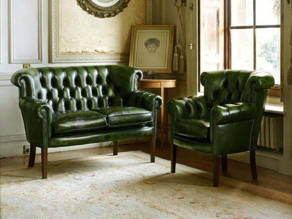 ghế sofa tân cổ điển da thật chân gỗ