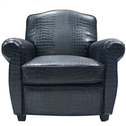 sofa da đơn cá sấu phong cách châu ÂU