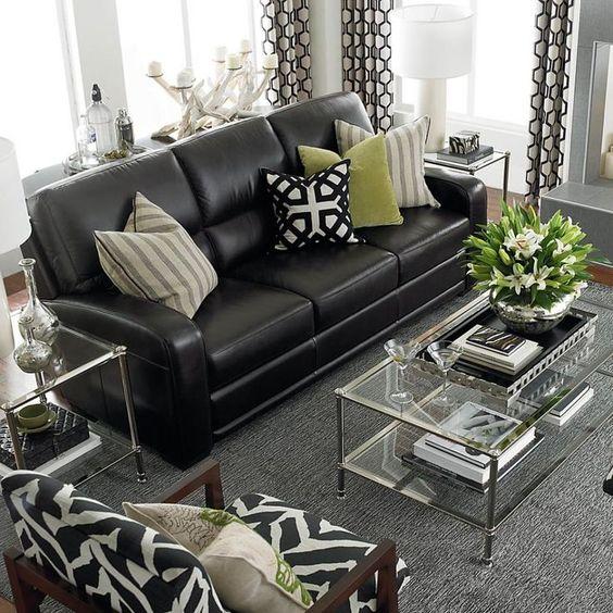 Sofa da hiện đại cho phòng khách