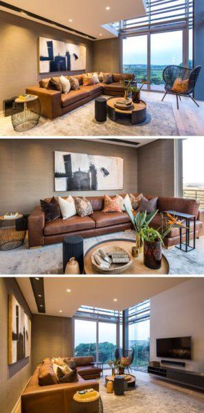 sofa góc da thật đẹp tại Hà Nội