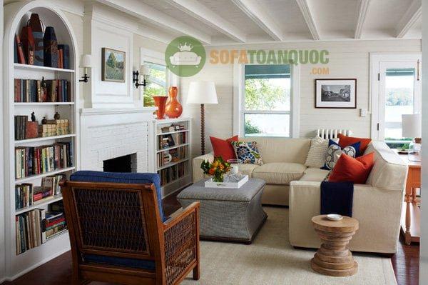 sofa vải góc mini phòng khách