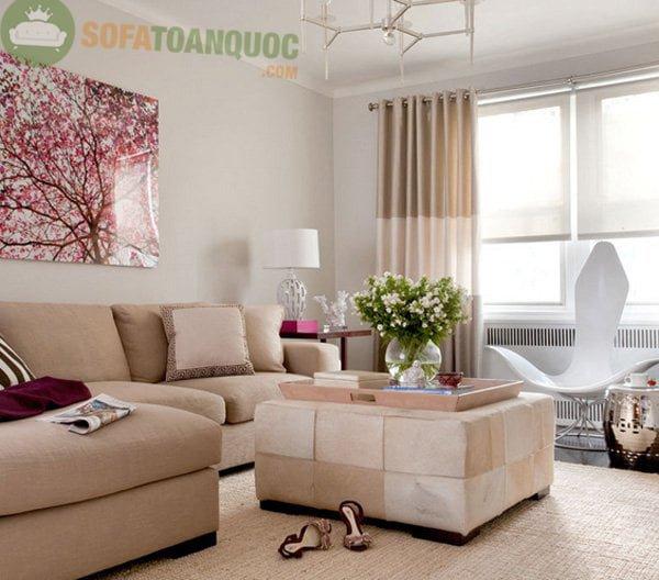 Sofa góc nhỏ hiện đại cho không gian phòng khách chung cư