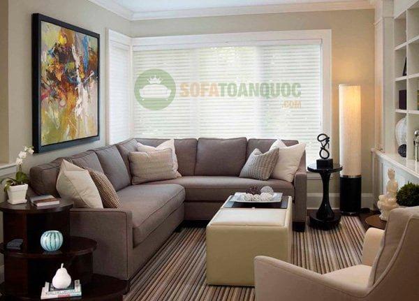 tìm bàn ghế sofa góc kích thước nhỏ cho phòng khách chung cư