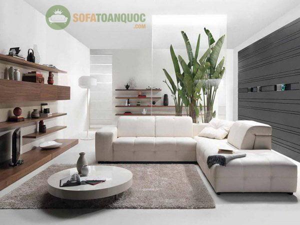 Bộ bàn ghế sofa phòng khách góc nhỏ