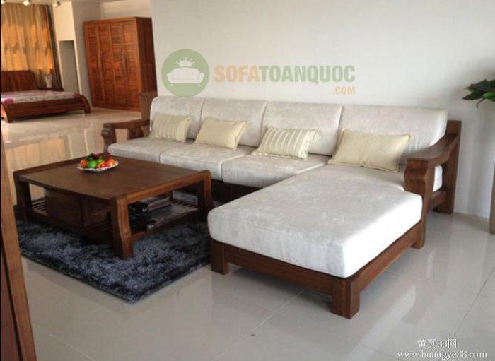 bộ bàn ghế sofa gỗ đệm đẹp cho phòng khách