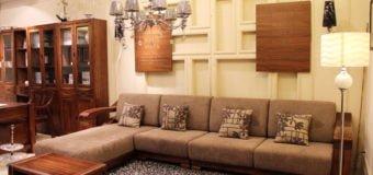 Những mẫu ghế sofa phòng khách bằng gỗ tiện nghi và cực sang trọng