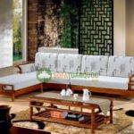 Mẫu sofa góc gỗ đệm đẹp cho không gian phòng khách tiện nghi