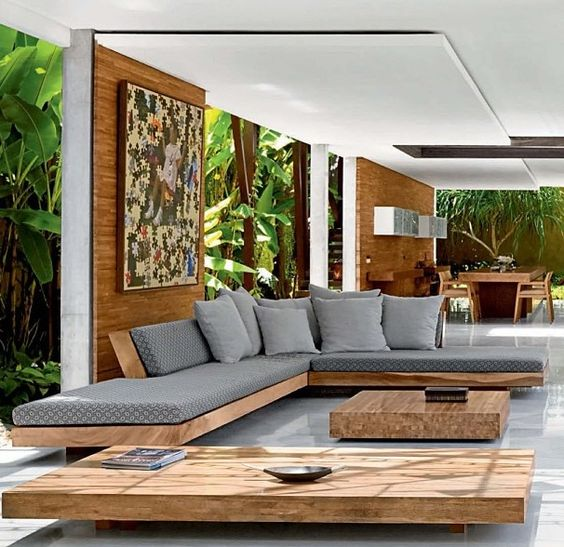 Ghế sofa góc gỗ nhỏ cho phòng khách