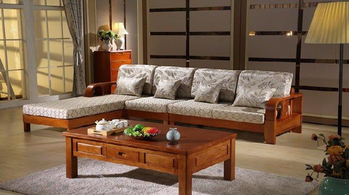 bàn ghế sofa gỗ sồi đẹp