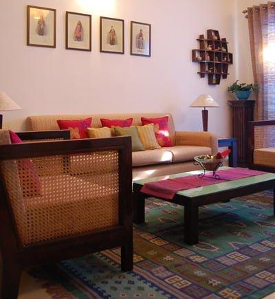 sofa góc gỗ đẹp cho phòng khách
